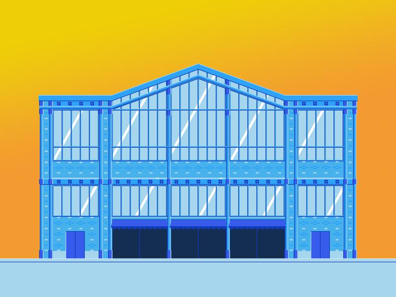 La halle centrale minimalism footer website web vector web design design illustration