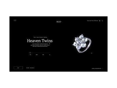 Website Diamonds Shop menu diamond ring luxury 2d 3d website design web diamonds diamond dashboad black animation 2020 trend white websites ui website ux branding 2020