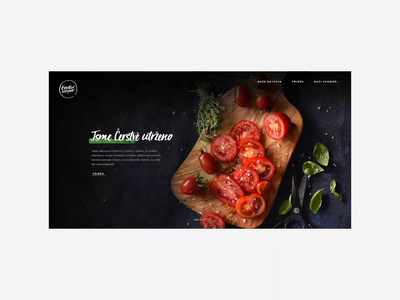 Fresh Tomatoes Website retail benefits about product photography black web tomato vegetable fresh logo 2d animation 2020 trend white websites website ux branding 2020
