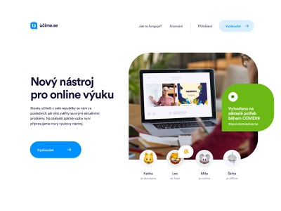 New online learning tool videocall skype hangout zoom learning school dashboad logo coronavirus web animation 2020 trend black ui branding 2020 white websites website ux