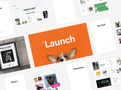 🐶 Fiddo |Dog App | Launch campaign black dog mobile app website design microsites websites mail newsletter banners presentation launch sticket app logo 2020 branding website ui white ux