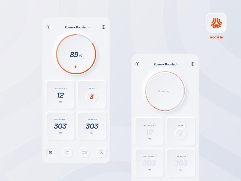 Mobile App Skeuomorph Style dark app statistics statistic stats 2020 trend 2020 dashboad whitespace white app design application design apple light dark mode boosted ui application app
