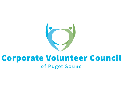 Corporate Volunteer Council of Puget Sound Logo puget sound graphic design logo