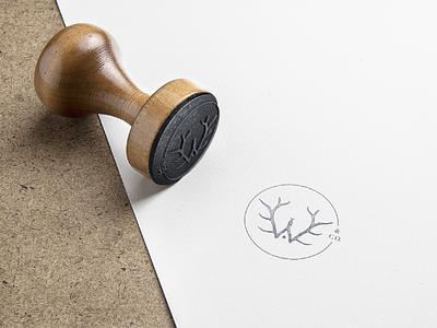 Woolen Antler & Co. Stamp graphic design handcrafted branding design foraged mark antler w stamp