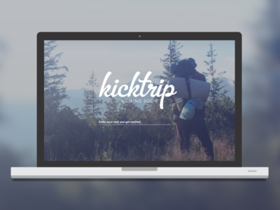 Kicktrip — Coming Soon ios android iphone app travel adventure website landingpage coming soon kicktrip