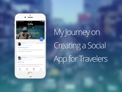 Kicktrip—My Journey on Creating a Social App for Travelers prototype ux design ui google android iphone ios travel story kicktrip