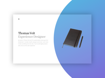 Personal Website experience gradient simple minimal website design portfolio personal