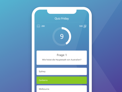 Quiz Friday trivia countdown chart mobile iphone quiz häschcash