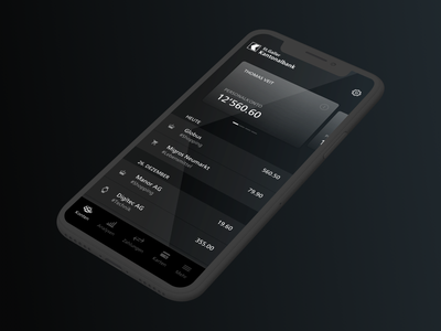 AllBlack — Banking App for St.Galler Kantonalbank design swiss cards android ios finance app black banking finance