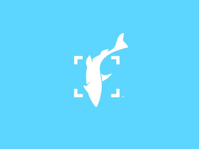 Fishial illustration design ui ai fish f logo f logotype logo identity design idenitity branding