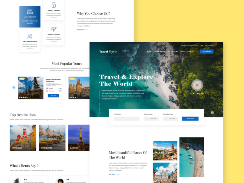 Travel Tour - Homepage
