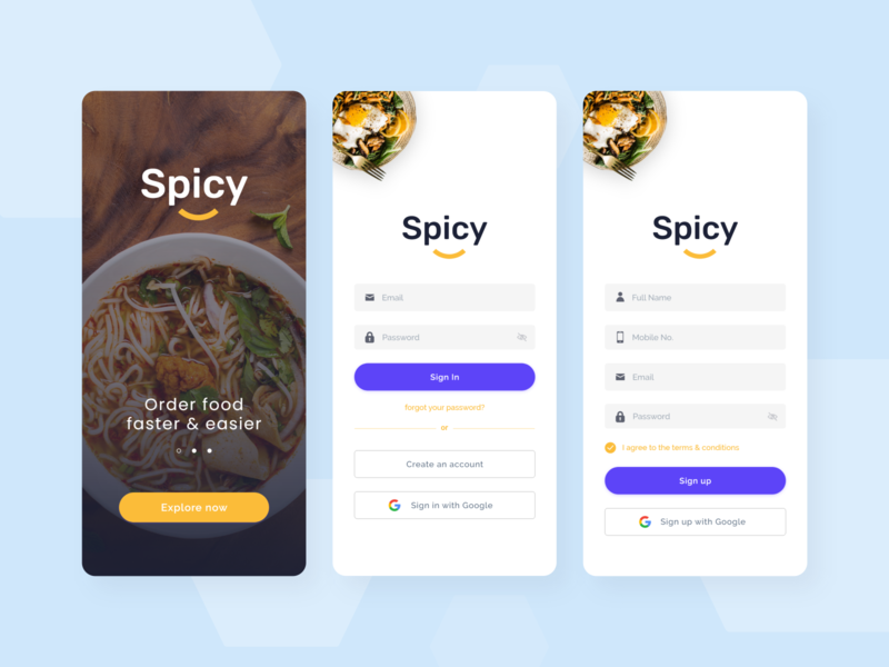 Spicy - Food Delivery App