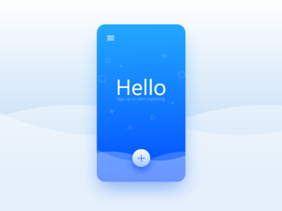 Welcome Page Sign Up UI