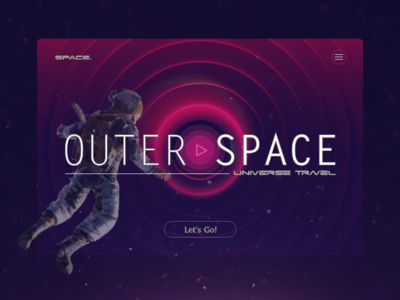 Space Travel   Landing Page