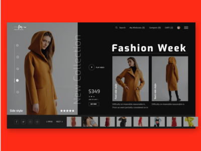 Fashion House web deisgn web ux ui typography product page minimal layout landing inspiration grid fashion color fashion ecommerce ecommence design concept color clean block