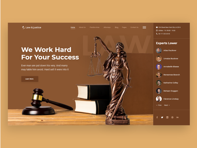 Law & justice web deisgn web typography ux ui law firm lawyers lawyer law landing page landing grid digital design creative