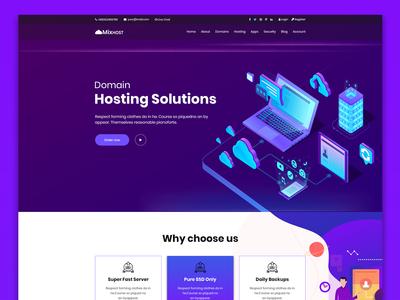 MixHost - Web Hosting PSD Template