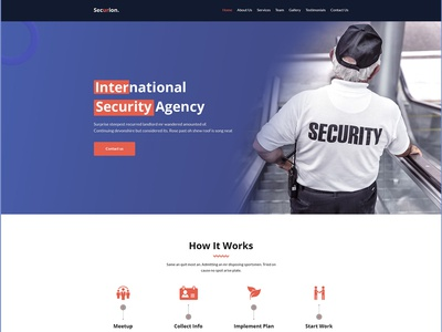 Securion - Security Agency PSD Template