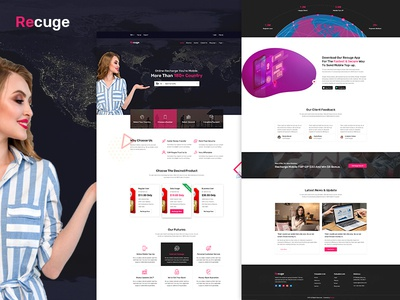 Recuge - Online Mobile Recharge PSD Template
