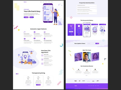 Appqq creative business web typography multipurpose web deisgn ui psd design ux psd vector design illustration colors clean application apps app