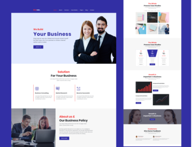 Bizever 1 web web deisgn ui ux typography startup minimal landing  page agency landing page gradient digital creative corporate colorful character  illustration business agency branding agency 2019 trend adobe photoshop