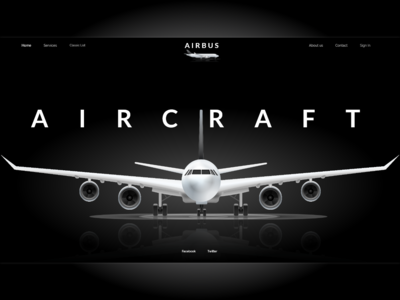 Airbus, Aircraft aircraft website webdesign design ux ui technology school landing page homepage aviation airbus