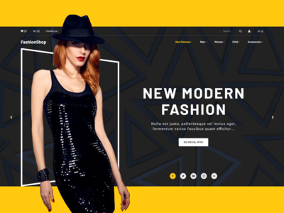 Fashionable  eCommerce design shop website web ux ui typography photo interface influencer fashion adobexd adobe header product page minimal landing grid ecommence clean