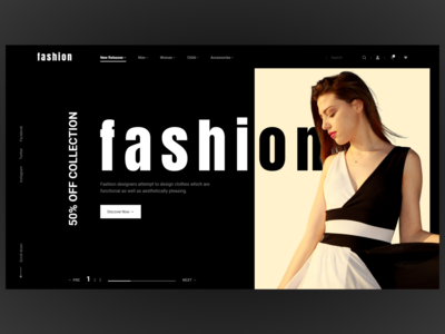 Modern & minimal fashion ecommerce website design shop minimal clean modern header ecommerce website web ux ui typography promo photo interface influencer adobexduikit adobexd adobe e-commerce fashion