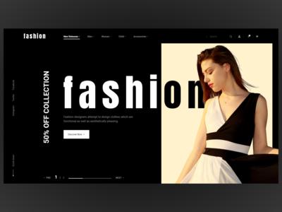 Modern & minimal fashion ecommerce website design