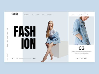 Fashion - eCommerce web typography product page landing grid ecommence clean ux ui minimal layout ecommerce design concept inspiration fashion color fashion color blue
