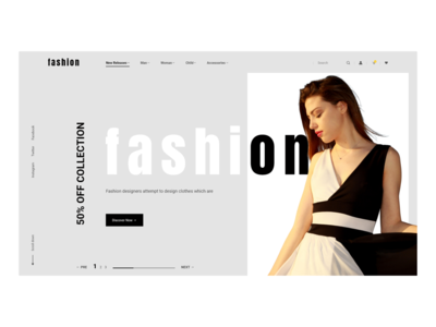 Minimal and Modern fashion eCommerce website design white color web deisgn web ux ui typography product page minimal layout landing inspiration grid fashion color fashion ecommerce ecommence design concept color clean white