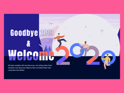 happy new year 2020 colors dribbble dribbble best shot web ui ux 2020 new years year new happy happy new year