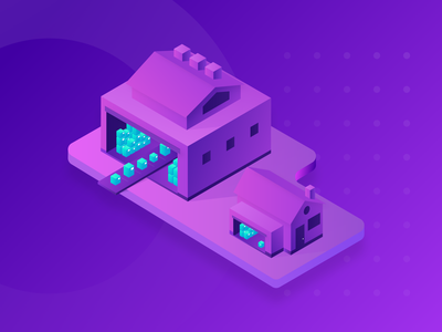 Upgrading Your Fulfillment and Shipping upgrade business warehouse shipping app ecommerce sketch isometric vector illustration
