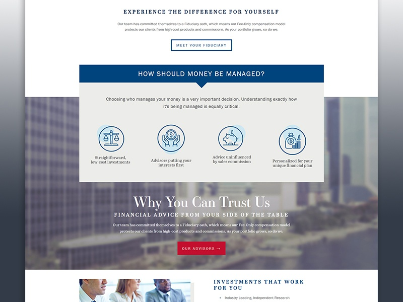 LBA Wealth Management Home Page Detail by Station Four on
