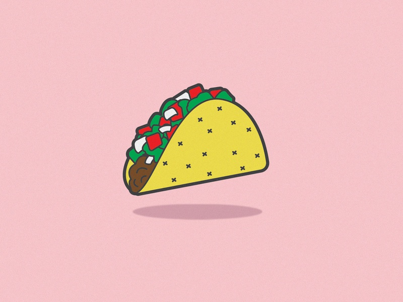 Taco Pin by Sydney Gregory on Dribbble