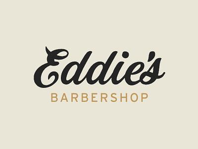 Eddie's Barbershop vintage logo identity branding typography
