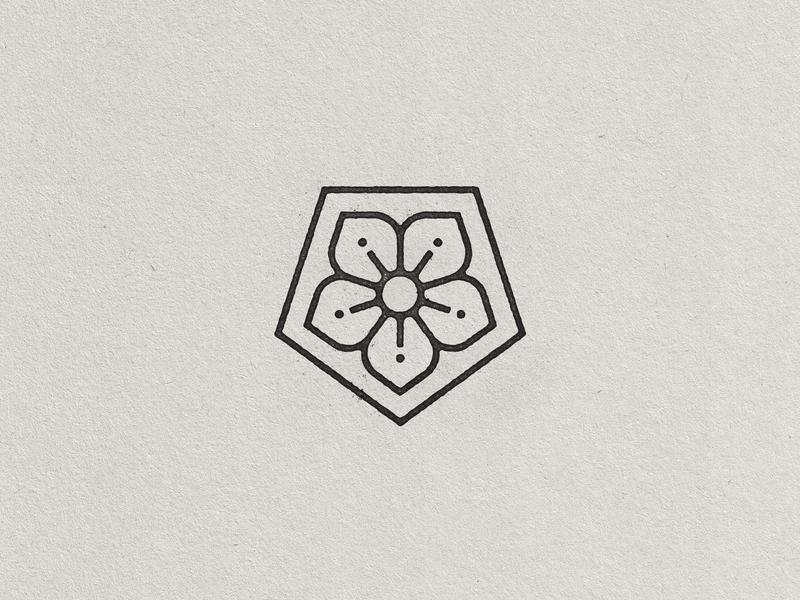 Spring Things icon baseball beer sun flower geometry monoline vintage handdrawn illustration