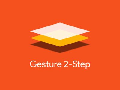 Gesture 2 Step Dribbble pixels density vector transparency geometry planes sans product logo