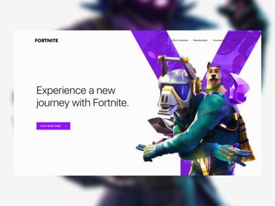 Fortnite Homepage Concept Design