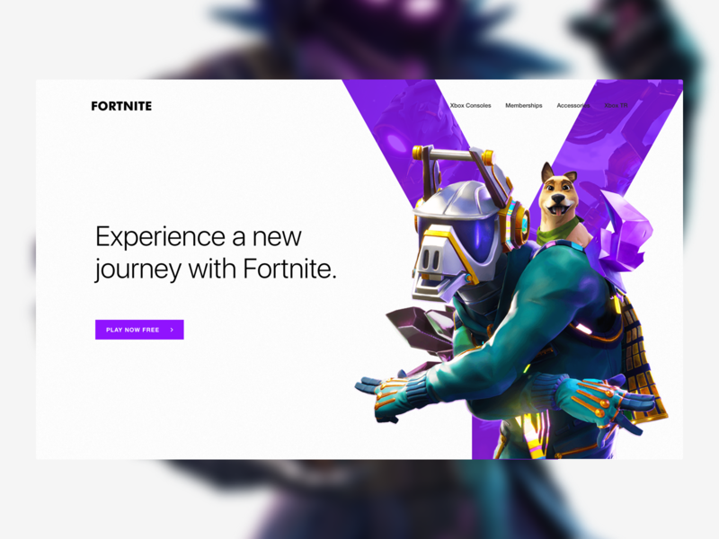 Fortnite Homepage Concept Design games playstation xbox crystal purple character header fortnite concept
