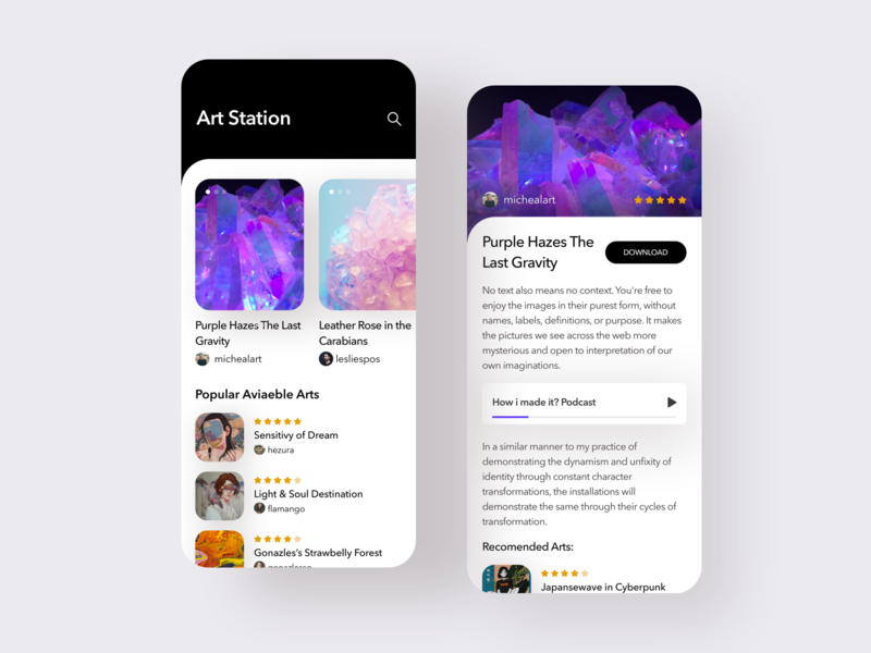 Art Station - Download Art App by Evren Karşıt on Dribbble