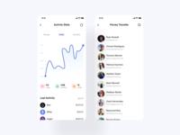 Money Transfer App - Stats & Send Screens