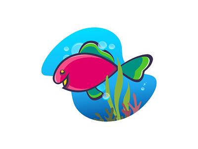 Fishy-Fishy vector illustration artwork