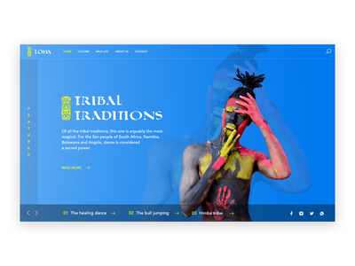Tribal Traditions artwork photoshop website ui ux
