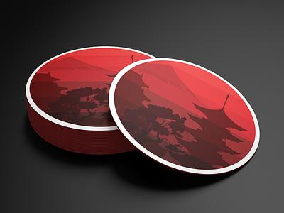 Arigato Coasters coaster design design illustration vector artwork