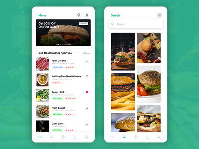 Food App food app ui app  design app design ui