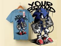 Sonic t-shirt design
