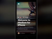 Medium for iPhone
