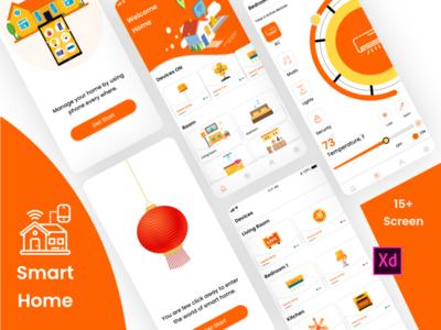 New Smart Home mobile app graphics design sketchapp illustrator design mobile app design ux design photoshop design xd design application design ui design home smarthome app