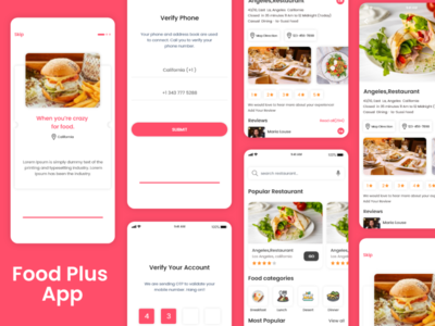 Food Plus sketchapp illustrator design mobile app design ui design ux design photoshop design xd design foodie food order online order restaurant food plus food app